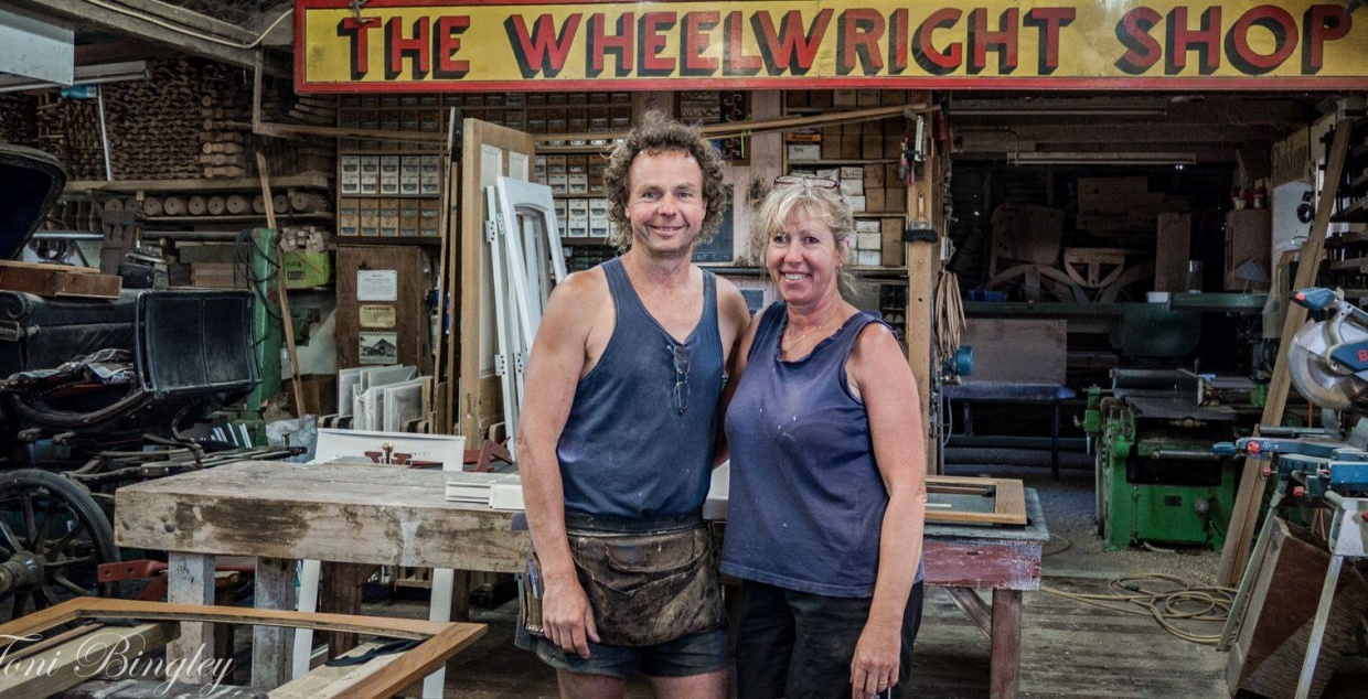 Greg & Ali Lang, Gladstone Wheelwright Shop